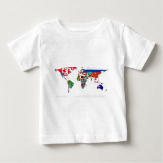 Flagged World - Map of Flags of the World Baby T-Shirt