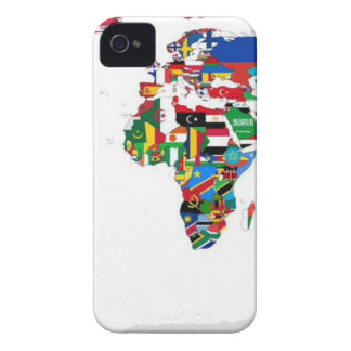 Flagged World - Map of Flags of the World Case-Mate iPhone 4 Cases