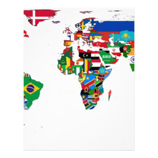 Flagged World - Map of Flags of the World Letterhead