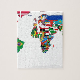 Flagged World - Map of Flags of the World Puzzle