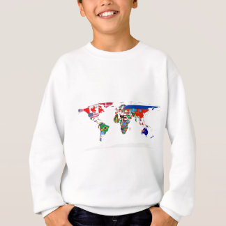 Flagged World - Map of Flags of the World Sweatshirt