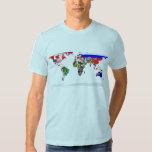 Flagged world tshirts
