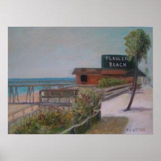 FLAGLER BEACH Poster