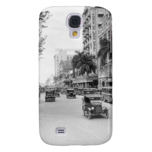 Flagler Street, Miami, 1920s Samsung Galaxy S4 Covers