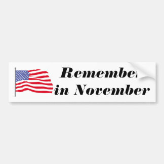 flags-american-waving-in-the_wind, Rememberin N... Bumper Sticker