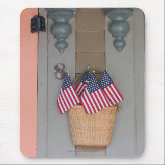 Flags and Basket, Martha's Vineyard Cottage Mouse Pad