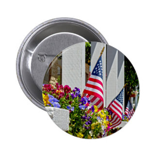 Flags and Flowers 2 Inch Round Button