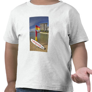 Flags and surf rescue board t shirt