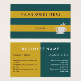 """""""Flags"""" Barista Business Cards"""