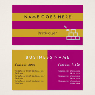 """Flags"" Bricklayer Business Cards"