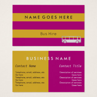 """Flags"" Bus Hire Business Cards"