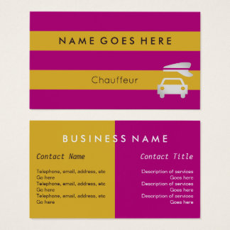 """""""Flags"""" Chauffeur Business Cards"""