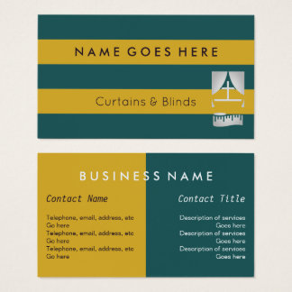 """Flags"" Curtains and Blinds Business Cards"