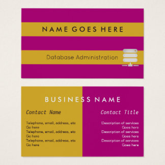 """Flags"" Database Administrator Business Cards"
