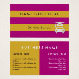 """""""Flags"""" Driving Instructor Business Cards"""