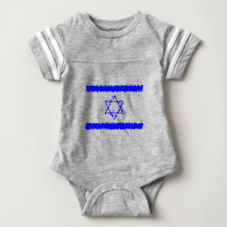 Flags Israel Blue Country Baby Bodysuit