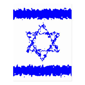 Flags Israel Blue Country Postcard