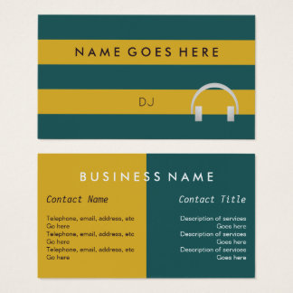 """""""Flags"""" Music DJ Business Cards"""