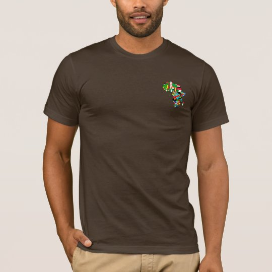 Flags of Africa - Africa map T-shirts and Tops