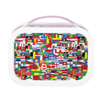 Flags of All Nations Lunch Box