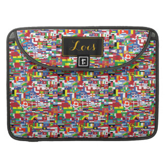 Flags of All Nations Sleeve For MacBook Pro