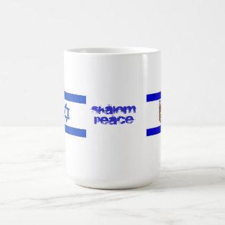 Flags of Israel and Jerusalem Coffee Mug