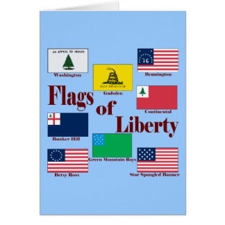 Flags of Liberty Card