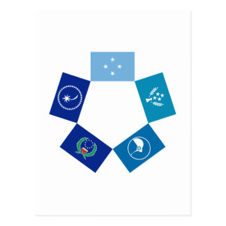 Flags of Micronesia and its States Postcard