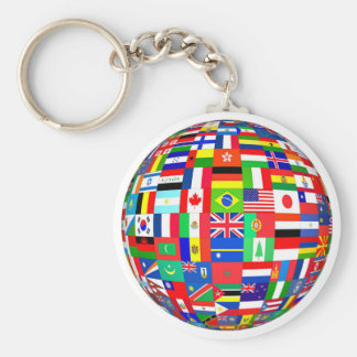 FLAGS OF THE GLOBE KEYCHAINS