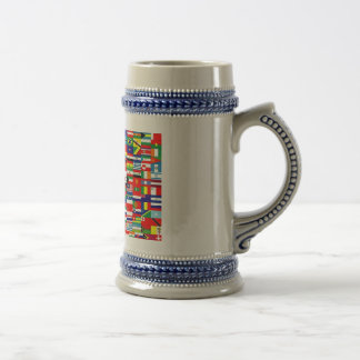 FLAGS OF THE WORLD 18 OZ BEER STEIN