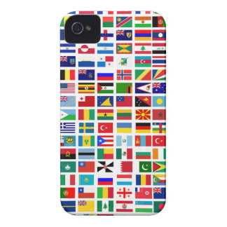flags of the world against white iPhone 4 Case-Mate cases