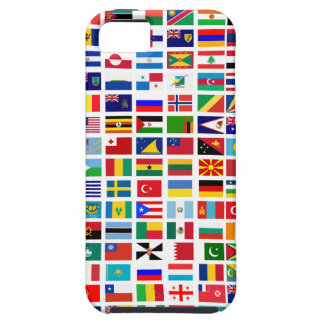 flags of the world against white iPhone 5 cover