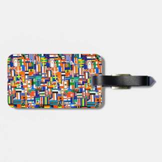 """""""Flags of the World"""" Decoupage Luggage Tag"""