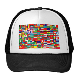 FLAGS OF THE WORLD HATS