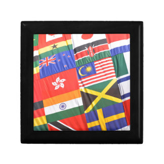 Flags of the world jewelry box