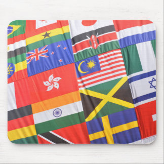 Flags of the world mouse pad