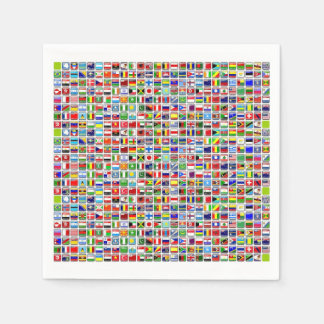 Flags of the World Paper Napkins