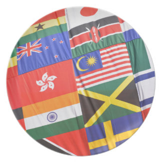 Flags of the world party plates