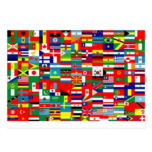 FLAGS OF THE WORLD POST CARD