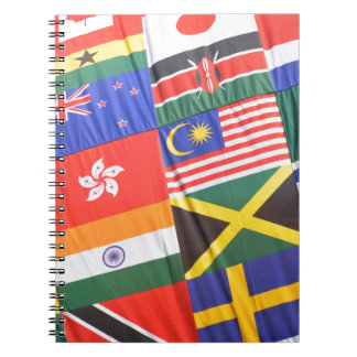 Flags of the world spiral note books