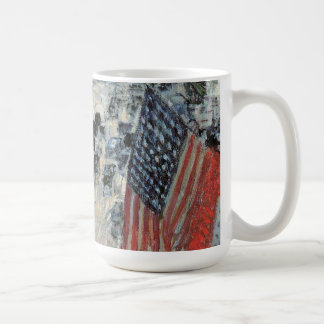 Flags on 57th Street by Childe Hassam, Vintage Art Coffee Mug