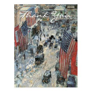 Flags on 57th Street by Frederick Childe Hassam Postcard
