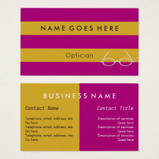 """""""Flags"""" Optician Business Cards"""