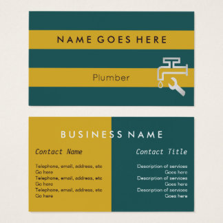 """""""Flags"""" Plumber Business Cards"""
