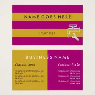 """Flags"" Plumber Business Cards"