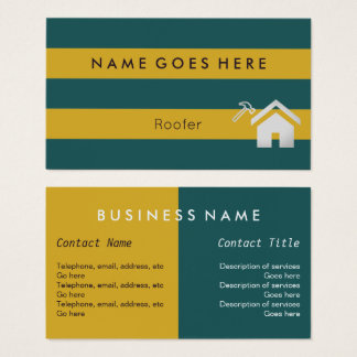 """""""Flags"""" Roofer Business Cards"""