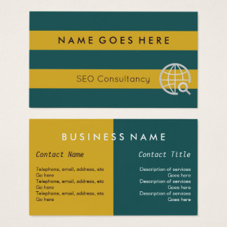 """Flags"" SEO Consultant Business Cards"