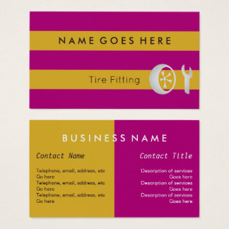 """""""Flags"""" Tire Fitter Business Cards"""