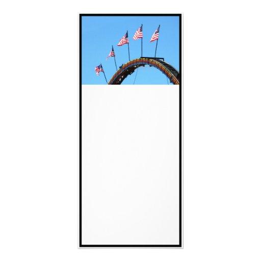Flags Up High Custom Rack Card