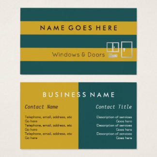 """Flags"" Windows and Doors Business Cards"
